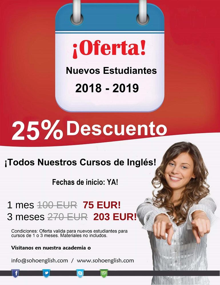 Clases de Inglés en Alicante – !25% Descuento!