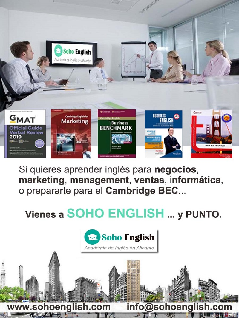 Donde Aprender Inglés para Negocios? Marketing?  Management? ¡En Soho English Alicante!